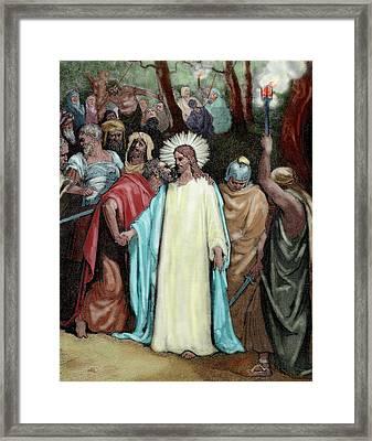 The Judas Kiss (1866 Framed Print by Prisma Archivo
