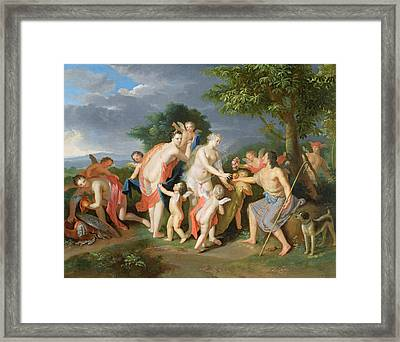The Judgement Of Paris Framed Print by Gerard Hoet