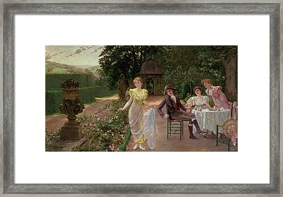 The Judgement Of Paris Framed Print by Hermann Koch