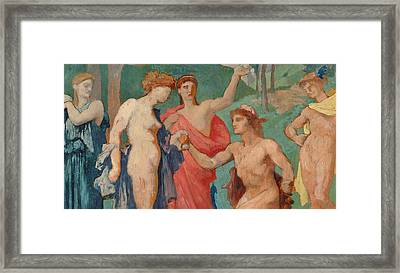 The Judgement Of Paris Framed Print by Jules Elie Delaunay