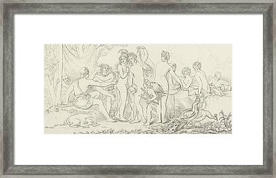 The Judgement Of Paris Framed Print by William Etty