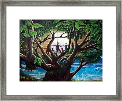 The Judgement  The Unseen And The Rendering Framed Print