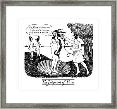 The Judgment Of Paris Framed Print by J.B. Handelsman