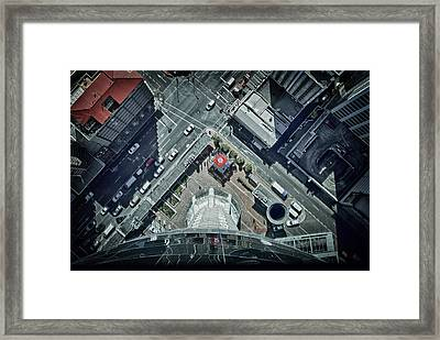 Framed Print featuring the photograph The Jump by Kim Andelkovic