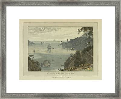 The Junction Of The Dart With The Sea Framed Print by British Library