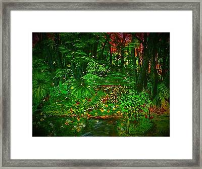 The Jungle Of Pennsylvania Framed Print by Alexandria Weaselwise Busen