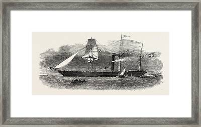 The Jylland, Danish Government Steamer Framed Print by English School