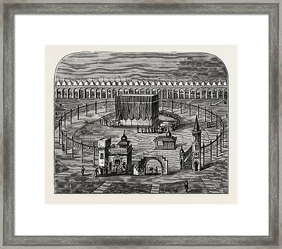 The Kaaba, Or Kissing Stone  Enclosure At Mecca Framed Print by Litz Collection