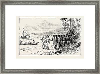 The Kanaka Labour Question In Queensland Recruiting Traders Framed Print by Australian School