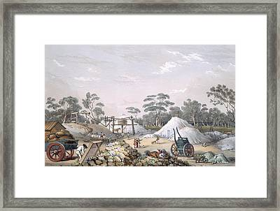 The Kapunda Copper Mine, From South Framed Print by George French Angas