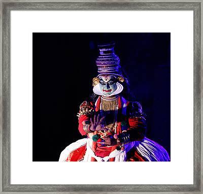 The Kathakali Dance Framed Print by Money Sharma