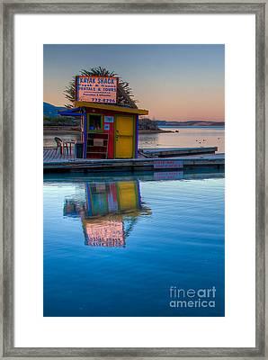 The Kayak Shack Morro Bay Framed Print by Terry Garvin