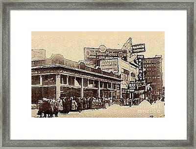 The Keeney Theatre In Newark N J In Winter 1914  Framed Print
