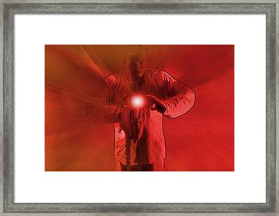 The Keeper Of The Light Framed Print by Dan Sproul