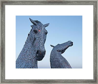 The Kelpies Framed Print by Stephen Taylor