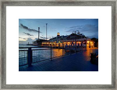 The Kemah Boardwalk Framed Print by Linda Unger