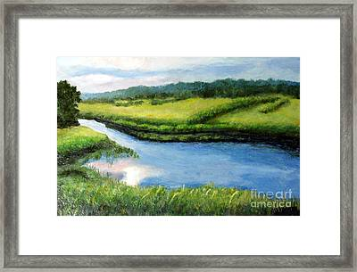 The Kennebecasis River Framed Print