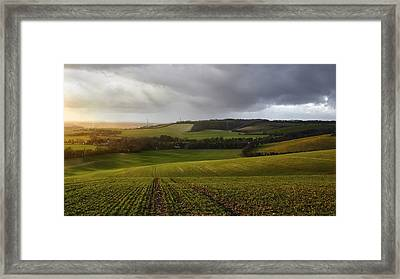 The Kent Countryside Framed Print by Ian Hufton
