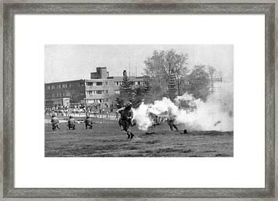 The Kent State Massacre Framed Print by Underwood Archives