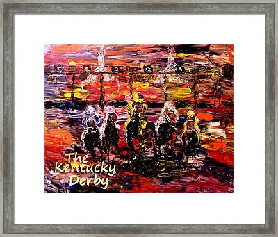The Kentucky Derby - And They're Off Without Year  Framed Print by Mark Moore