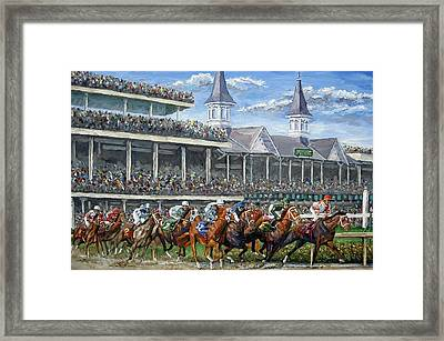 The Kentucky Derby - Churchill Downs Framed Print by Mike Rabe