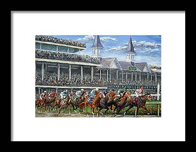 Race Horse Framed Prints