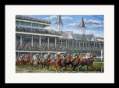 Kentucky Derby Paintings Framed Prints
