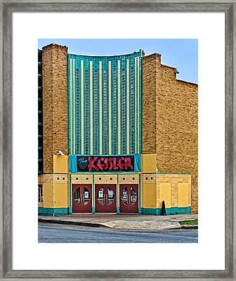 The Kessler Movie Theater Framed Print