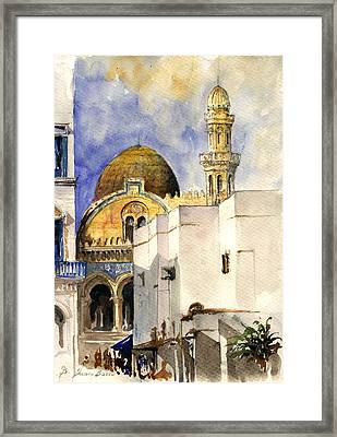 The Ketchaoua Mosque Framed Print by Juan  Bosco