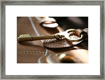 Framed Print featuring the photograph The Key II by Lynn England