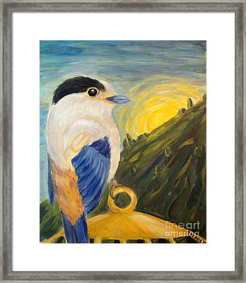 Framed Print featuring the painting The Key by Maria Langgle