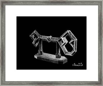The Key To Erebor Framed Print by Kayleigh Semeniuk