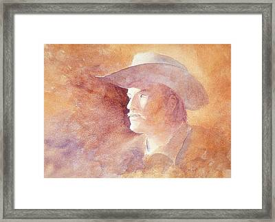 Framed Print featuring the painting The Kid by John  Svenson