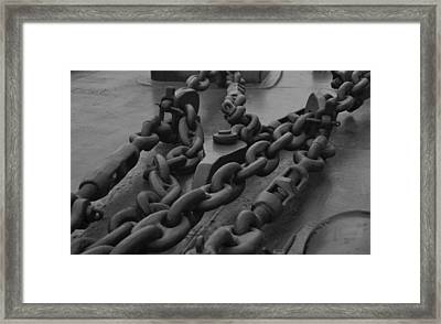 The Kidds Chains Framed Print by Richard Booth