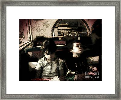 The Kids Framed Print by Jose Benavides