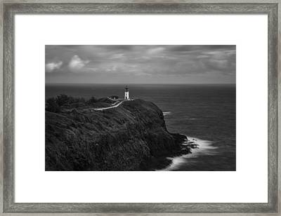Framed Print featuring the photograph The Kilauea Lighthouse  by Hawaii  Fine Art Photography