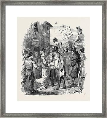 The Kilkenny Election, Canvassing For Votes Framed Print