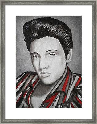 The King Framed Print by Al  Molina