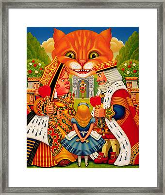 The King And Queen Of Hearts, 2010 Framed Print by Frances Broomfield