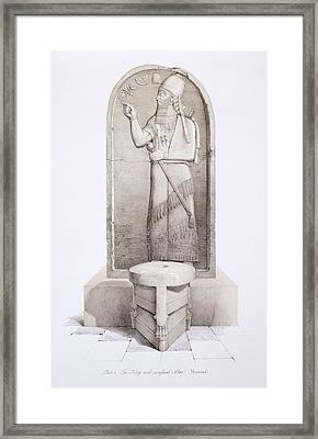 The King And Sacrificial Altar, Nimrud Framed Print by English School