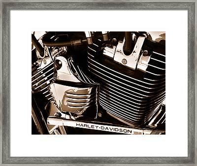 The King - Harley Davidson Road King Engine Framed Print by Steven Milner