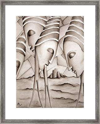 The King Is Dead  Framed Print by Simona  Mereu