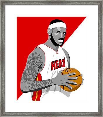 The King Lebron James Framed Print by Paul Dunkel