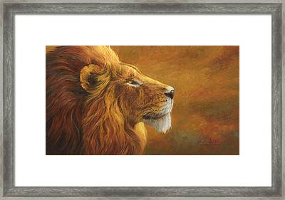 The King Framed Print by Lucie Bilodeau