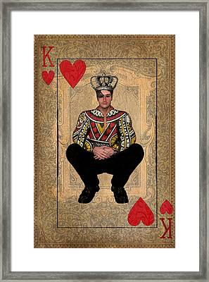 The King Of Hearts Framed Print by Terry Fleckney