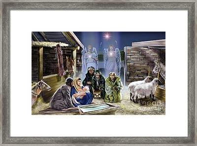 The King Of Kings Is Born Framed Print by Reggie Duffie