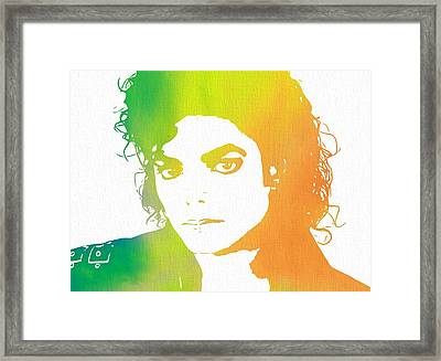 The King Of Pop Art Framed Print by Dan Sproul