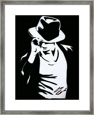 The King Of Pop  Framed Print by Caleb Goodman