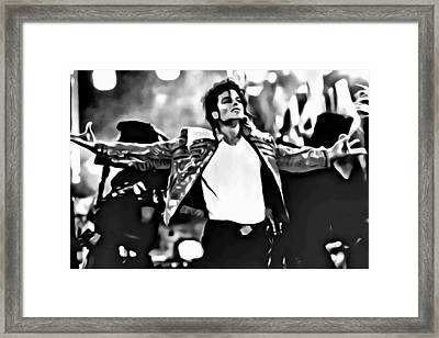 The King Of Pop Framed Print