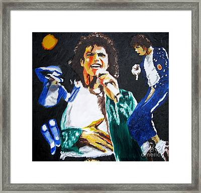 The King Of Pop Michael Jackson Framed Print by Ronald Young